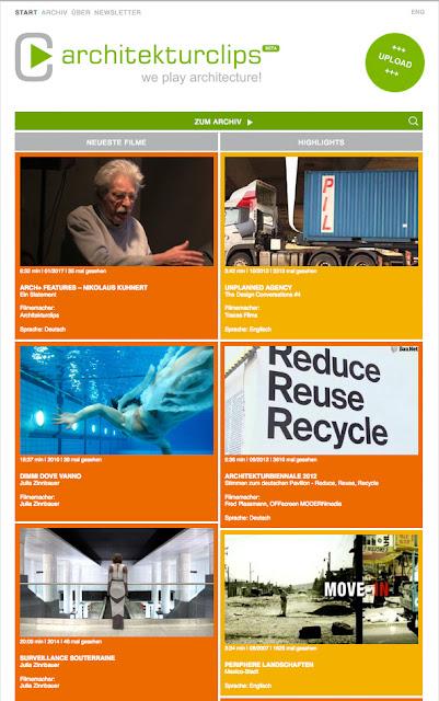 Kurzfilme über Architektur von Julia Zinnbauer