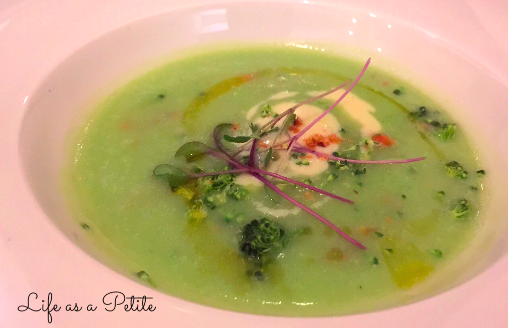 Royalé of Stilton, broccoli velouté, toasted hazelnuts- Arbutus Review