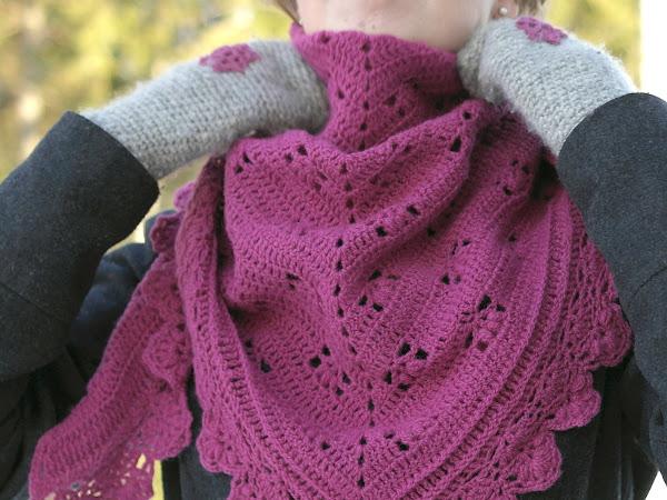 Virkattu huivi - Victoria shawl