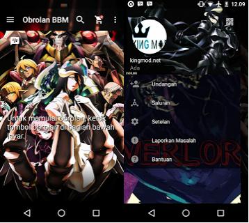 BBM MOD Overlord v2.13.1.14 Apk Terbaru