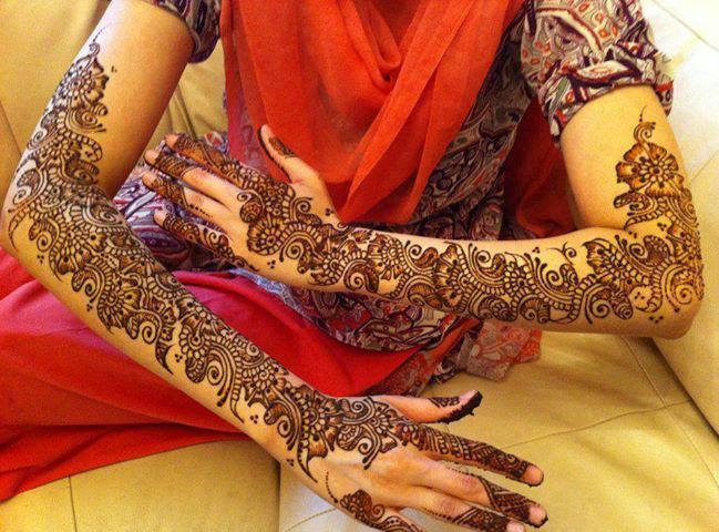 Mehndi Design For Bridal Collection : Latest special bridal artistic mehndi designs collection