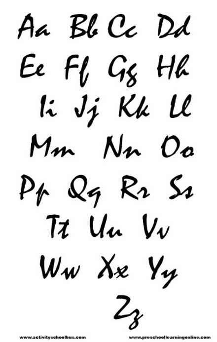 New Graffiti Art Stencils Letters Free Printable Graffiti Alphabet