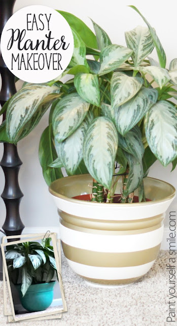 Painted Planter Makeover Easy DIY