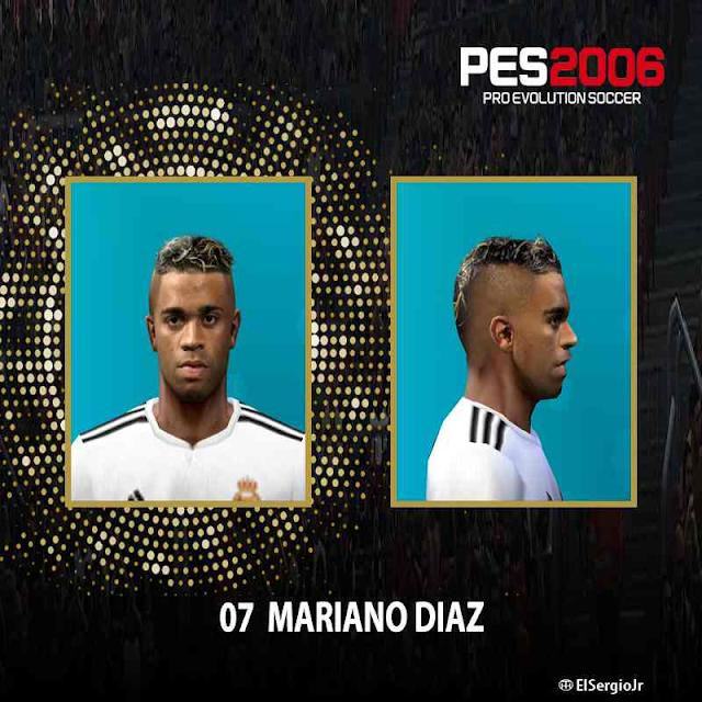 Pes 6 Faces Mariano Diaz Real Madrid 2019 Fix