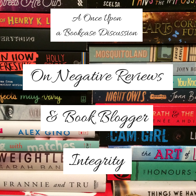 On Negative Reviews & Book Blogger Integrity