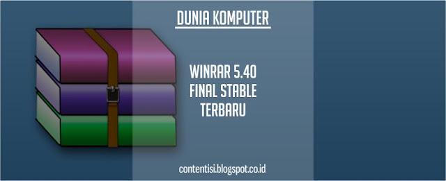 WinRAR 5.40 Final Stable Terbaru