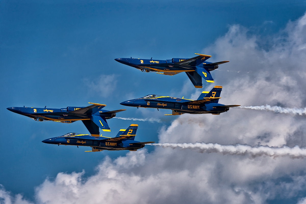f-18 super hornet blue angels in formation aircraft wallpaper 4045