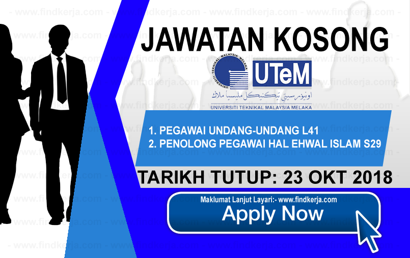 Jawatan Kerja Kosong UTeM - Universiti Teknikal Malaysia Melaka logo www.ohjob.info www.findkerja.com oktober 2018