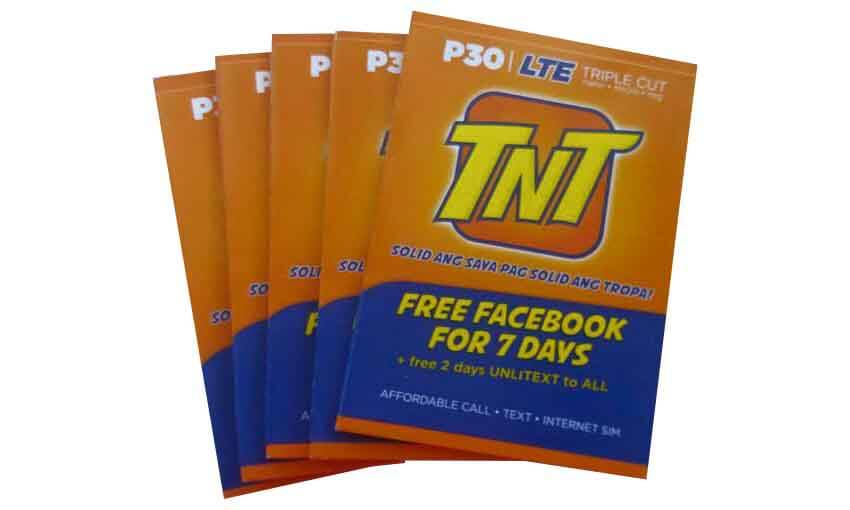 Talk N Text Tnt Offers Lte Sim For Only 30 Pesos With Free Facebook Howtoquick Net