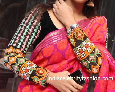 Multi color Thread Work Full Sleeve Blouse Design