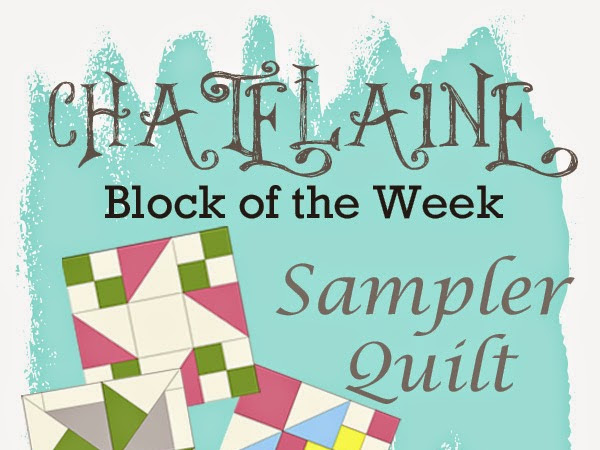 Chatelaine- Free BOW Sampler Quilt Block One