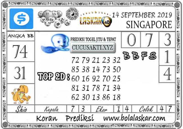 Prediksi Togel SINGAPORE LASKAR4D 14 SEPTEMBER 2019