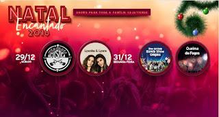 Natal Encantado 2018 em Cajati, Shows musicais e queima de fogos estão programados para o fim do ano