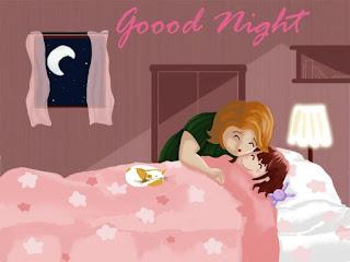 Good night Wallpaper for cute little girl