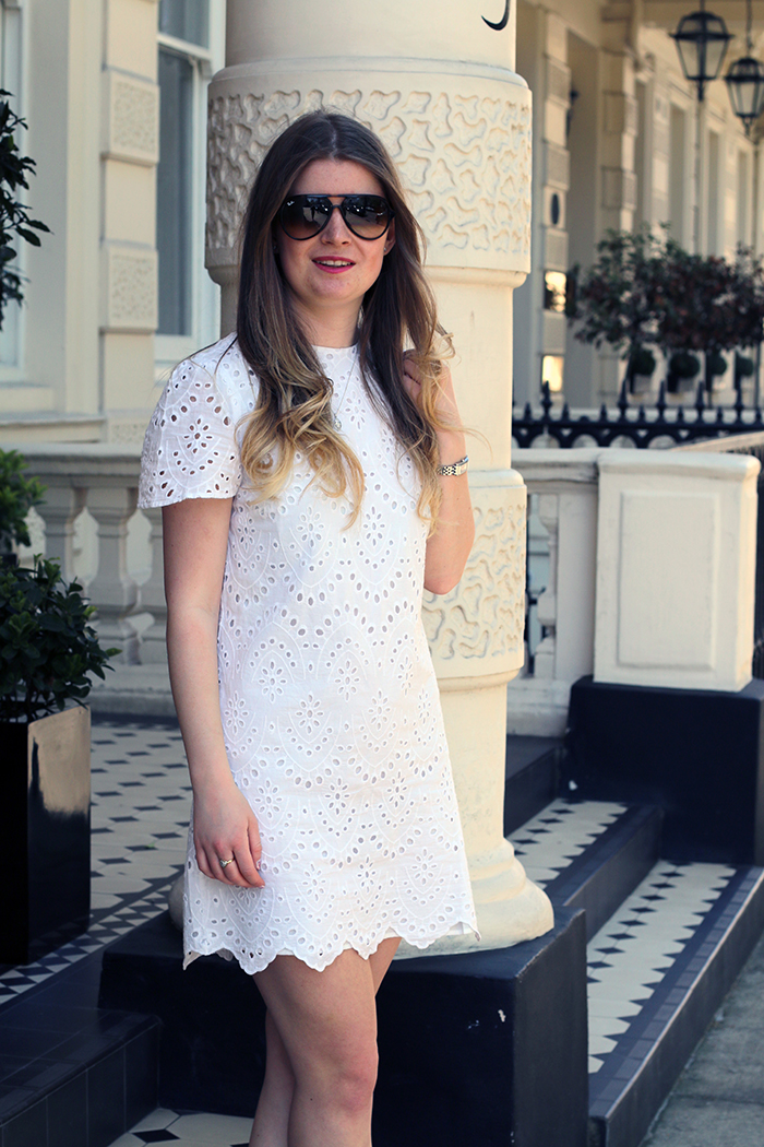 zara white dress fashion bloggers