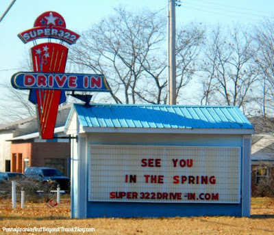 Super 322 Drive-In Movie Theater in Woodland Pennsylvania
