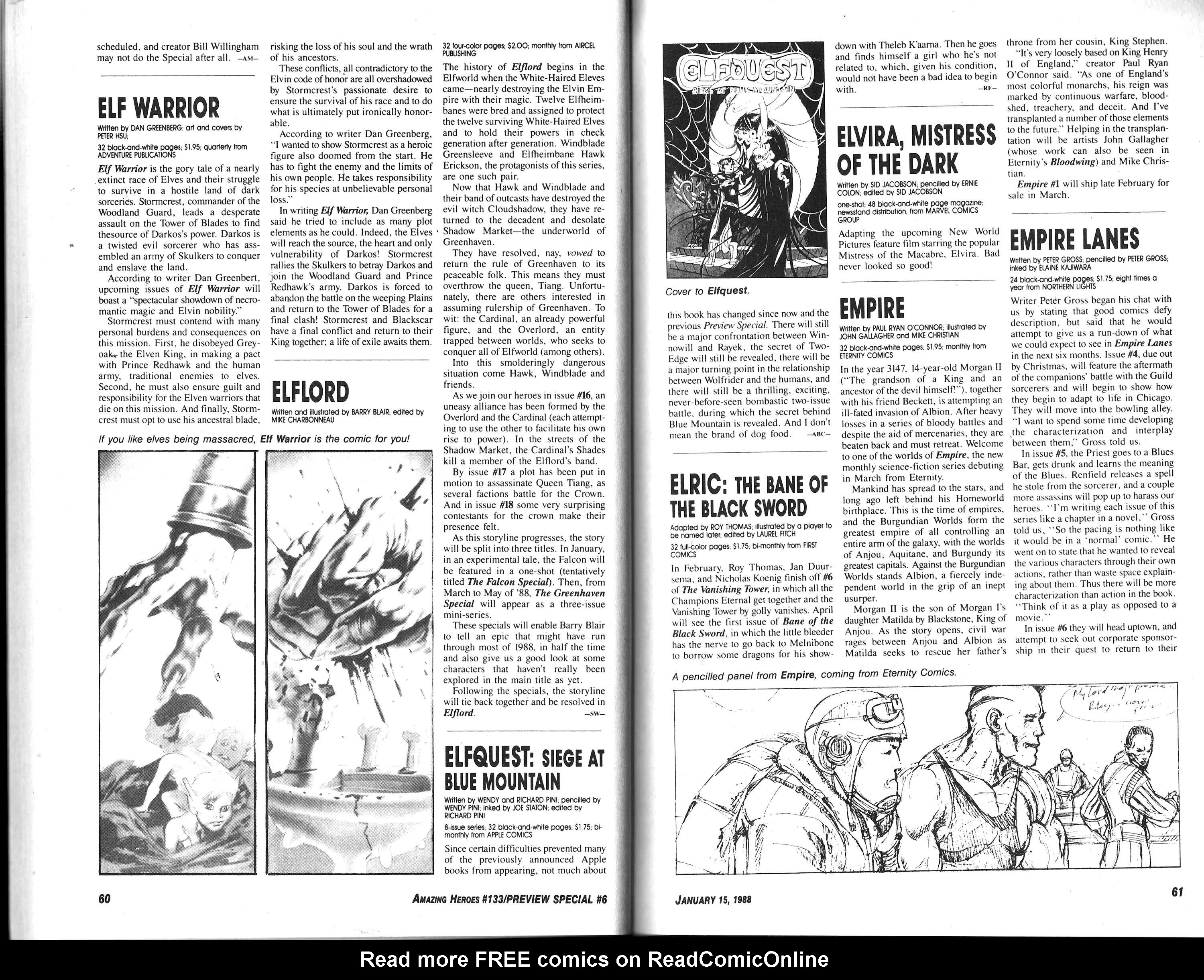 Read online Amazing Heroes comic -  Issue #133 - 32