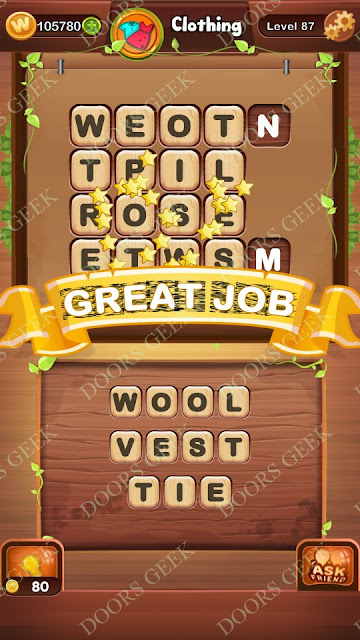 Word Bright Level 87 Answers, Cheats, Solutions, Walkthrough for android, iphone, ipad and ipod