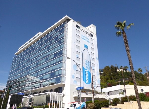 Giant Smartwater Sparkling billboard Sunset Strip