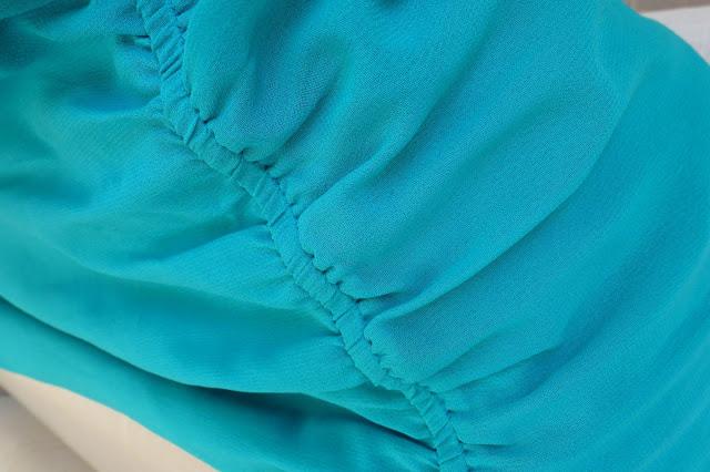 τυρκουάζ φόρεμα