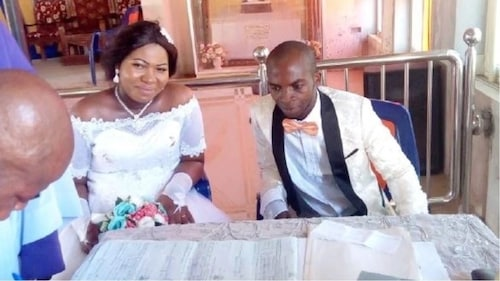 Woman gives birth to third child the same day to her wedding