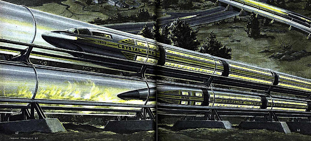 a Frank Tinsley illustration of future transit