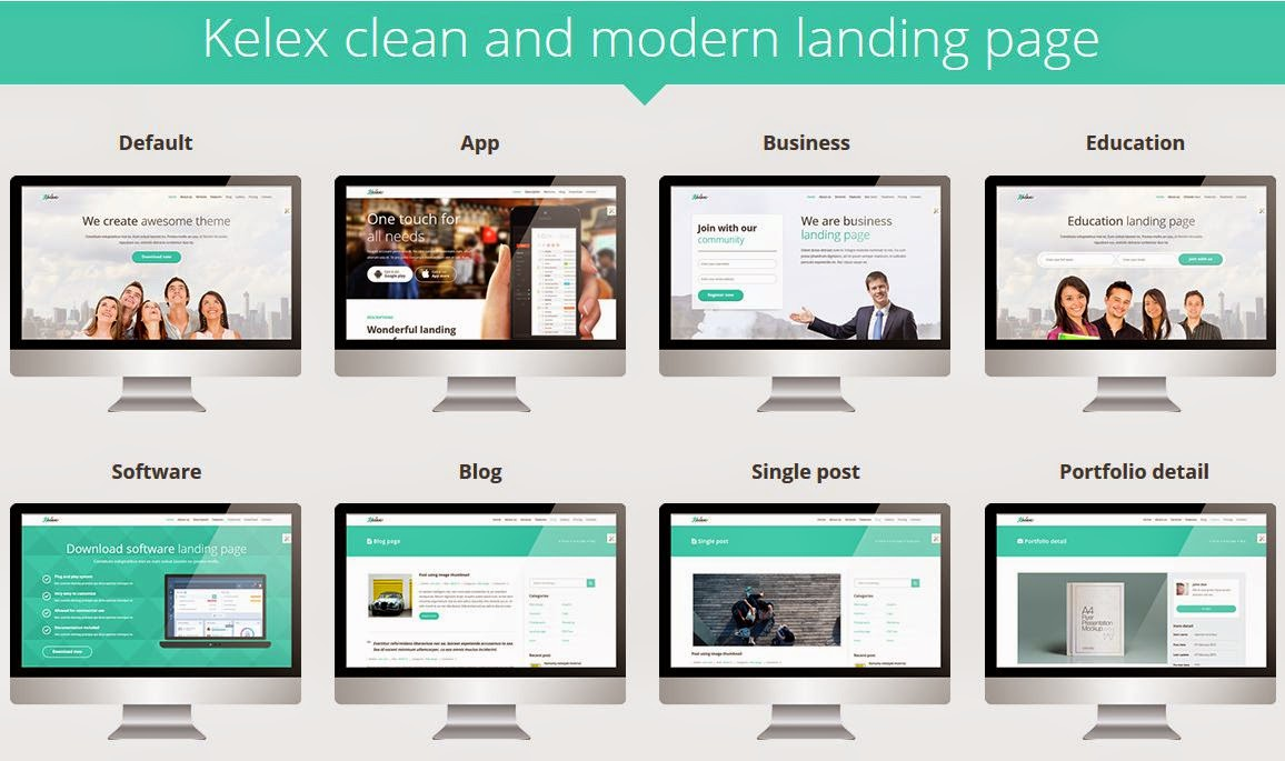 Premium Landing Page Muse Template
