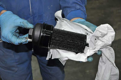 oil filter BMW 320d E46 replacement