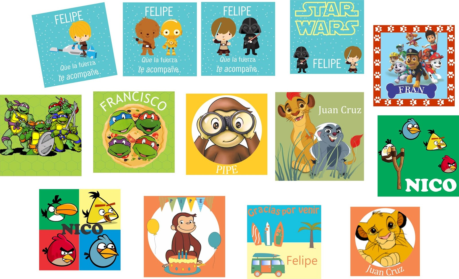 Pin stickers personalizados on pinterest for Stickers infantiles