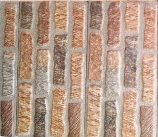 Keramik motif batu sirih warna