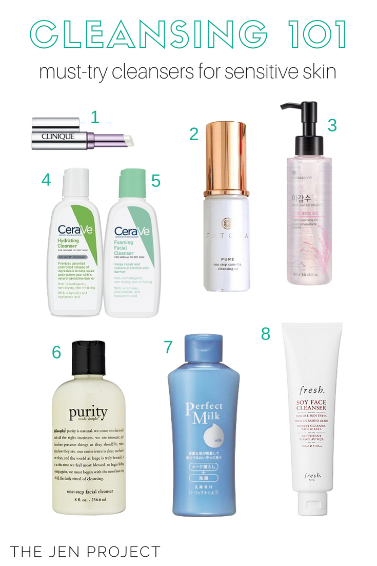 The Best Cleansers For Sensitive Acne Prone Skin The Jen Project
