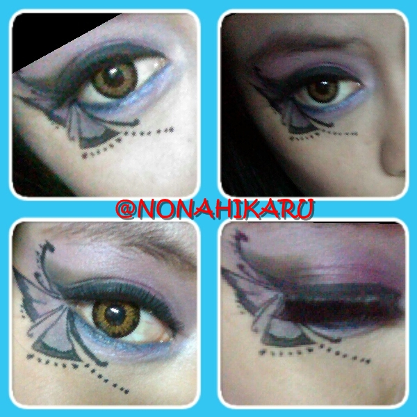 Tutorial Fantasy Makeup Blue Butterfly On Eye Beauty Travelling