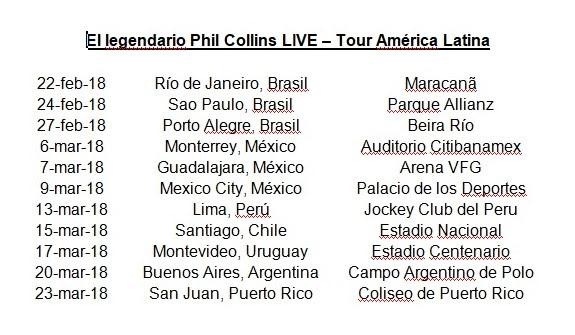 CONFIRMADO Phil Collins en Argentina el 20 de marzo 2018 en el Campo Argentino de Polo