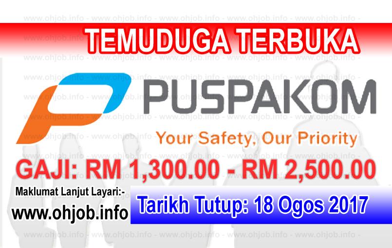 Jawatan Kerja Kosong PUSPAKOM Sdn Bhd logo www.ohjob.info ogos 2017