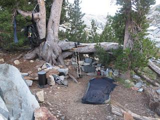 Mein Lager am südlichen Twin Island Lake