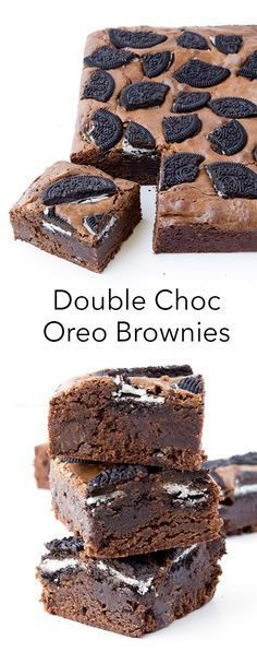 Double Chocolate Oreo Brownies