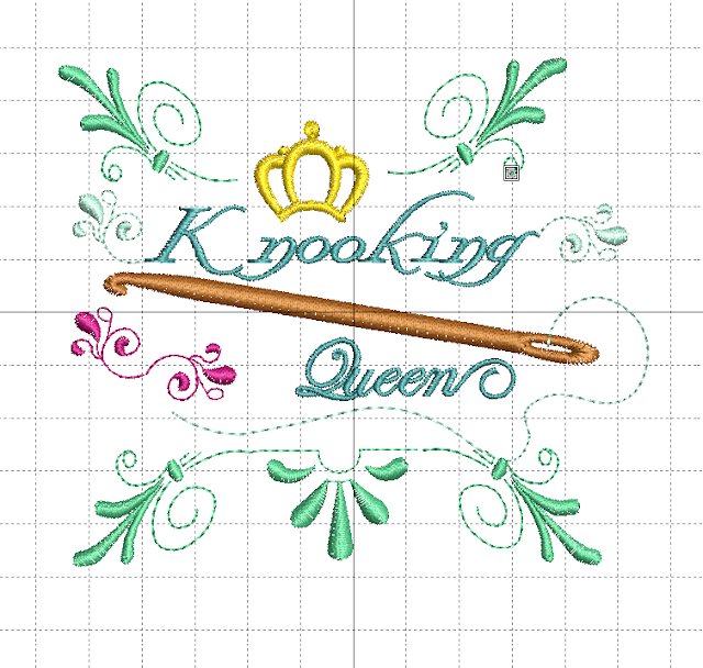 Stickdatei Knooking Queen