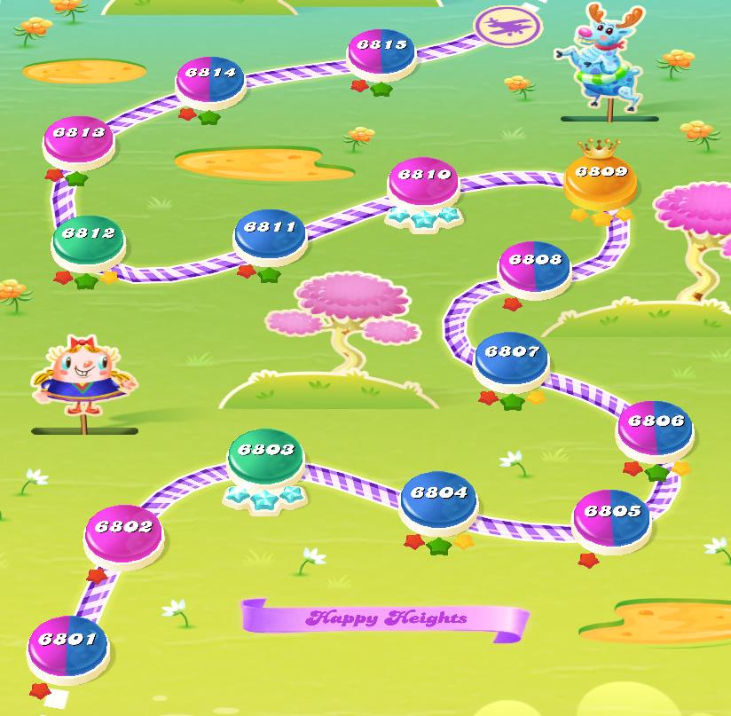 Candy Crush Saga level 6801-6815