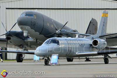 AC-47T Fantasma y SR-569 Horus de la Fuerza Aérea Colombiana.