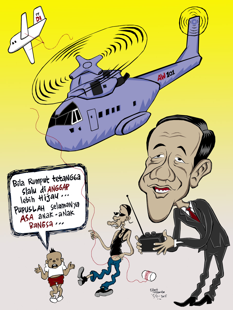 Helikopter Jokowi LASKAR KOCAK