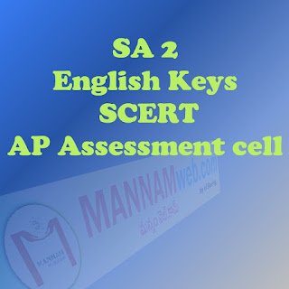 Summative Assessmen 2 - English Keys by SCERT ,AP Assessment cell