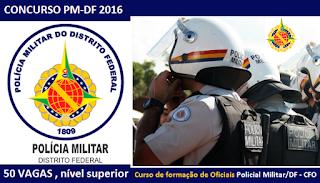 apostila da pmdf cfo 2016 policial militar do distrito federal, concurso pm df 2016.