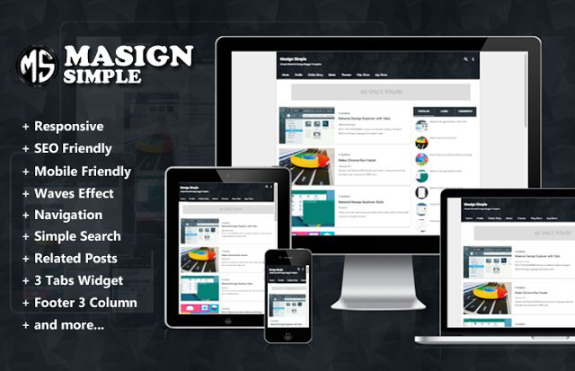 Masign Simple is modern, clean and responsive material design blogger template. This theme is Ideal For Personal Blogs Sites.