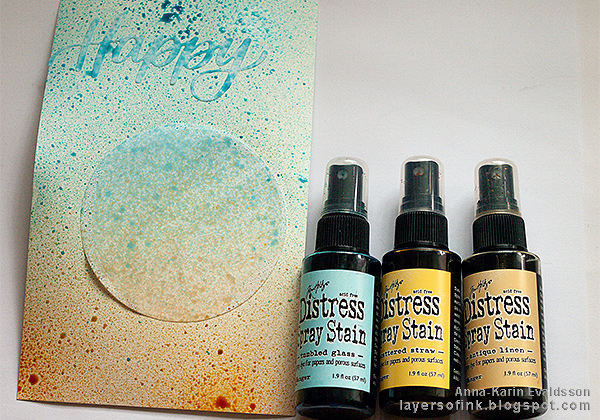 Layers of ink - Mist, ink and splatters tutorial by Anna-Karin Evaldsson