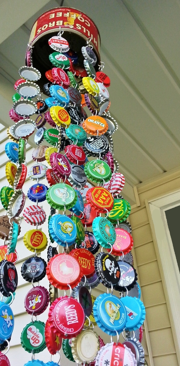 kelli nina perkins bottle cap chime. Black Bedroom Furniture Sets. Home Design Ideas