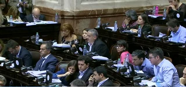 Sesión en vivo en la Cámara de Diputados