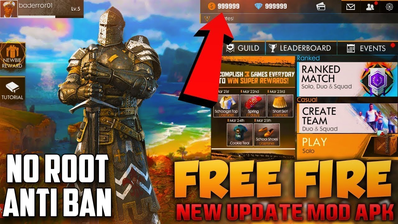 free fire battlegrounds mod apk download