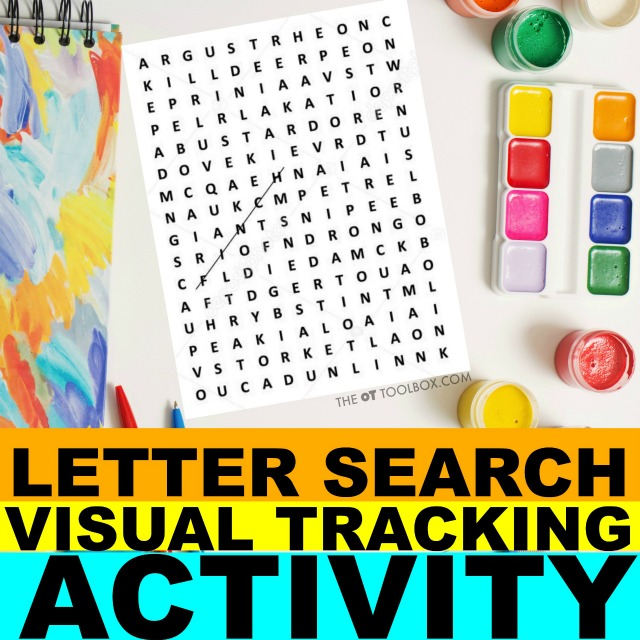 Working on visual tracking skills? These visual saccades activities will help.