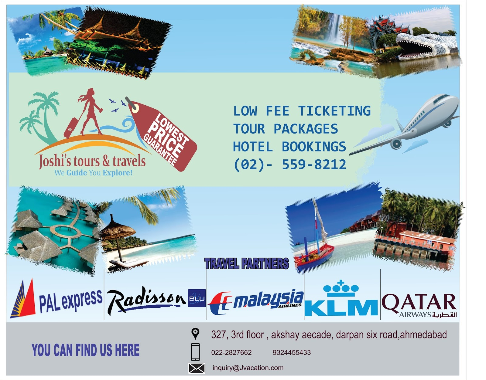Advertisement Design In Coreldraw For Travelling Company