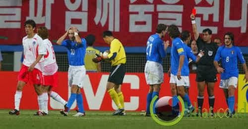 Kemenangan tak terduga, Korea Selatan vs Italia (2002)